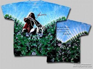 Janis Joplin Motorcycle Double Sided Tie Dye T Shirt
