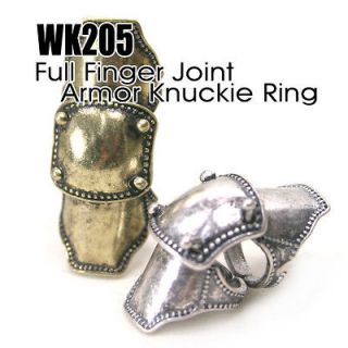 WK.205 Full Finger Joint Armor Knuckle Ring / Free Gifts & Tracking