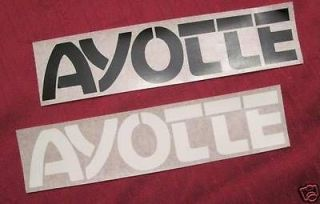 Ayotte bass drum sticker logo decal large small black white grey gold