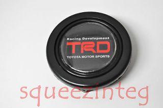 TRD RED HORN BUTTON STEERING WHEEL JDM 2 OPENING CELICA SUPRA COROLLA