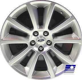 11 Ford Flex Factory OEM 10 Spoke 20 x 8 HYPER Silver Wheel Rim 3771