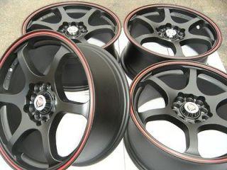 16 wheels rims matt black red ring fits Mazda Civic Sonata Tiburon