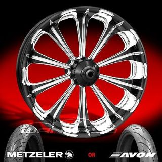 Machine Revel Chrome Front Wheel and Tire for 2000 13 Harley Touring