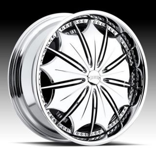 SPIN Presidential Wheel SET 24x10 Chrome Spinner Rims RWD 5 & 6 Lug