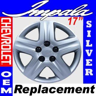 Pc Chevy Impala Steel Wheel Snap On SILVER 17 Hub Caps 5 Spoke OEM