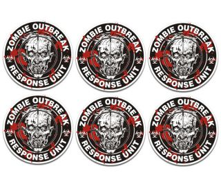 Zombie Response Unit Sniper Rim Wheel Center Cap Vinyl Stickers Decal