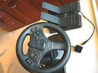 INTERACT V4 FORCE FEEDBACK RACING STEERING WHEEL PEDALS PC ONLY