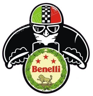 BENELLI CAFE RACER MOTORCYCLE HELMET STICKER