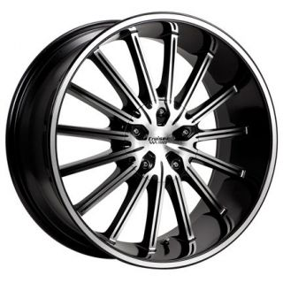 22 6X139/135 RIMS AND TIRES BLACK FORD F150 NAVIGATOR TITAN ARMADA