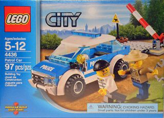 LEGO CITY Police Patrol Car #4436 97 pieces Sheriff and Prisoner