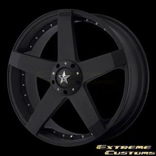 20 x10 KMC Wheels KM775 Rockstar Car Matte Black 4 5 Lug Rims FREE