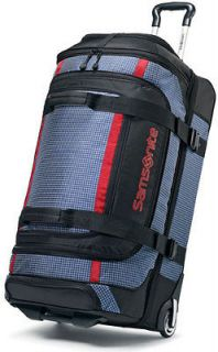 Samsonite Ripstop 26 Wheeled Duffel Bag Rolling Luggage Blue 46243