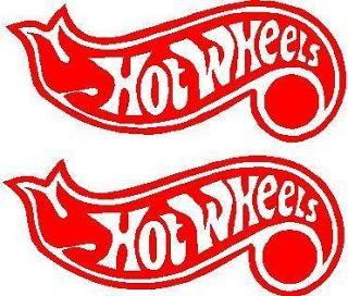 2X hot wheels hotwheels logo Bumber sticker decal cars trucks boats