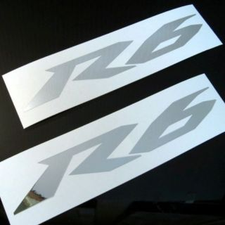 2x Chrome R6 Decals Stickers Yamaha 600 YZF