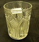 Antique Victorian Celery Pressed Etched Glass Vase EAPG Spooner