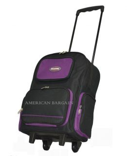 16.5 Rolling Wheeled Backpack/School Bag/Book Bag (7 colors)