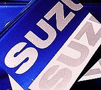 Suzuki SILVER METALLIC   8.25in 21cm decals stickers gs