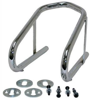 Chrome Motorcycle Wheel Chock Removable 6.5 Inch Wide