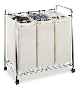 Laundry Bags Basket Sorter Home Clothes Organizer Cart w Wheels   NEW