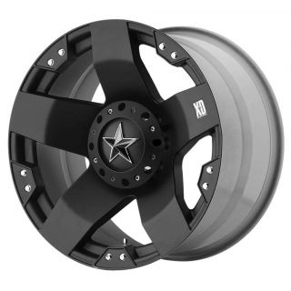 20x8.5 XD Rockstar Matte Black Wheels 5x5 5x135   Jeep JK / Old F 150