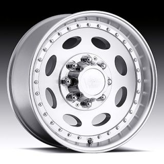 19.5 Vision 81 Machined Wheels Tires Chevy GMC 2500 3500 8Lug 8x6.5