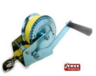 1200lb HAND STRAP WINCH ~ BOAT   CAR   TRAILER   4X4 ** Free Shipping