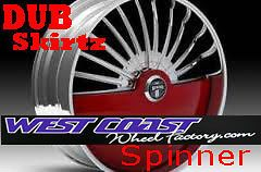 26 DUB SKIRTZ S600 Spinner RIMS WHEEL Set SKIRTZ Spinners NEW Floater