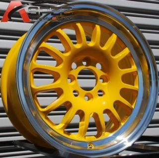 ROTA TRACK R 15X7 4X100 ET40 ROYAL YELLOW RIMS WHEELS
