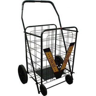 Trimmer Heavy Duty Extra Large Shopping Cart, Black