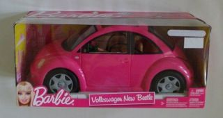 NIB Mattel Barbie Volkswagen New Beetle & Doll Set