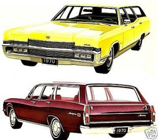 1970 MERCURY WAGONS BROCHURE MARQU IS MONTEREY MO NTEGO