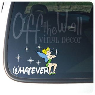 Tinkerbell WHATEVER Vinyl Car Decal Sticker