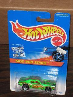 1996 Hot Wheels #399 67 Camaro Mod Bod Series #4 w/clear win, 5SPs