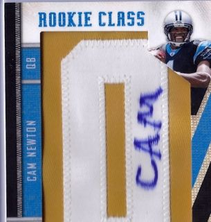 2011 Cam Newton Panini Threads Rookie Auto 1 1 Gold Letter