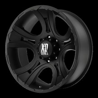 17 inch Black Wheels Rims XD801 Crank 2007 2013 Jeep Wrangler 5x5