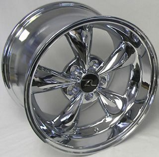 Dish Mustang Chrome Bullitt Wheels 17x9 10 5 fits 1994 04 Bullet Rims