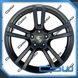 CAYENNE 22 INCH WHEELS RIMS MATTE BLACK NEW 2013 Q7 CAYENNE TOUAREG