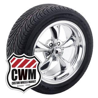 17x7 Polished Aluminum Wheels Rims Tires 225 50ZR17 for Pontiac LeMans