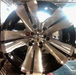 ALLOY 138 BLACK MACHINED CHEROKEE WRANGLER EXPLORER RANGER WHEELS RIMS