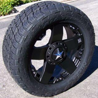 20 Black XD Rockstar Wheels Rims Nitto Terra Grappler Tires Toyota