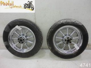 02 Harley Davidson Touring FLH Chrome Wheel Rim Wheels Rims Set