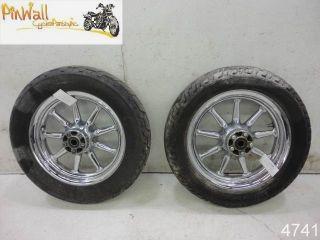 02 Harley Davidson Touring FLH Chrome Wheel Rim Wheels Rims Set