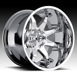 OFFROAD Octane Wheel SET 20x12 FUEL DEEP LIP SERIES OCTANE RIMS Chrome