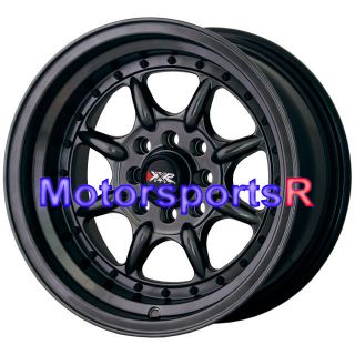 16 16x8 XXR 002 Chromium Black Wheels Rims Deep Dish Step Lip 4x100