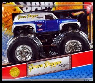 Hot Wheels Monster Jam Truck 1ST EDITIONS 2012 GRAVE DIGGER THE LEGEND