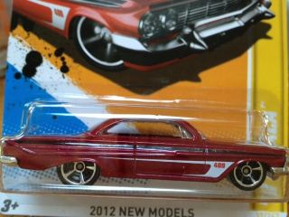 2012 Hot Wheels 61 Impala Red