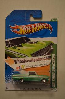 65 Ford Ranchero Green * 2012 Hot Wheels * Treasure Hunt * New M Case