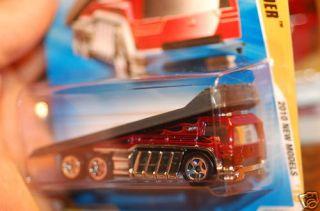2010 Hot Wheels Back Slider Car Transporter Red Color