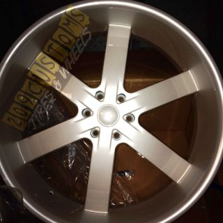 RIMS WHEELS TIRES U2W55 6X139 7 PEARL WHITE CADILLAC ESCALADE 2008