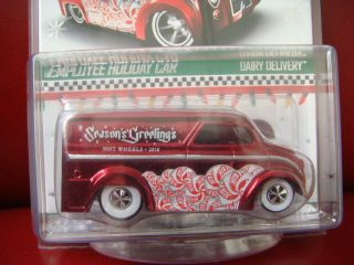 Hot Wheels 2010 Employee Holiday Car Customized Dairy Delivery